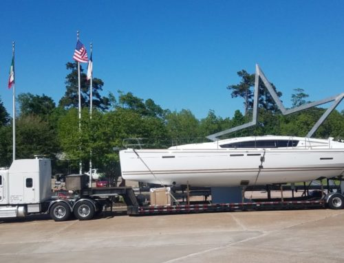Trucking a 2018 Jeanneau 44DS Marion SC to Kemah TX
