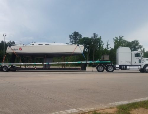 J/Boat Transport, The hauling of Hamburg, Delivery of a J/109 from Seabrook TX to Norwalk CT